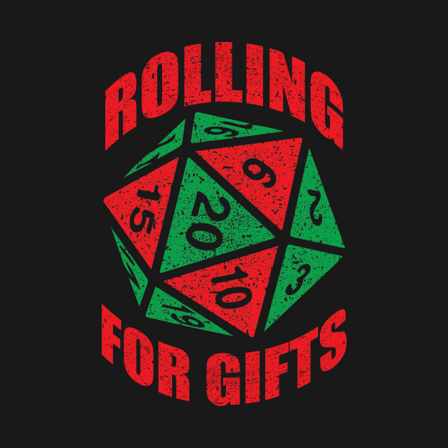 Geek Christmas.Funny Rpg Dice Christmas Shirt D20 Rolling For Gifts