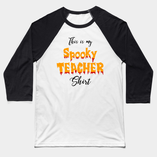 1065ecca Spooky Teacher Halloween Graphic Tee Shirt - Halloween - Baseball T ...