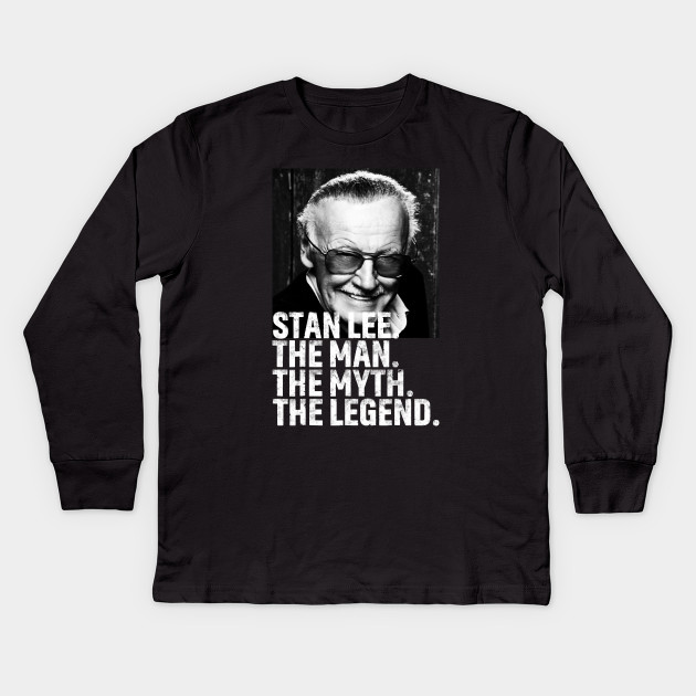 62ebdb2f Man Of Many Face - Stan Lee Tribute - Kids Long Sleeve T-Shirt ...