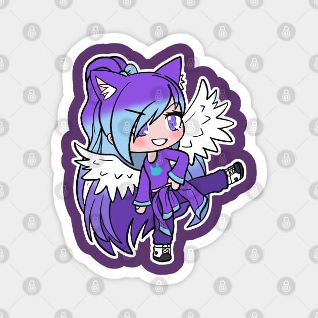 Purple Gacha Character