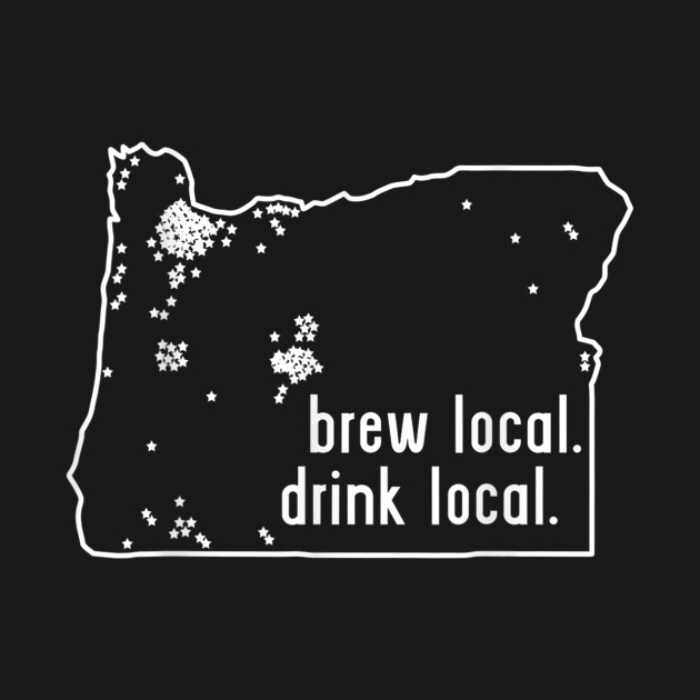 Oregon State Brewery Map - Craft Beer Graphic T-Shirt
