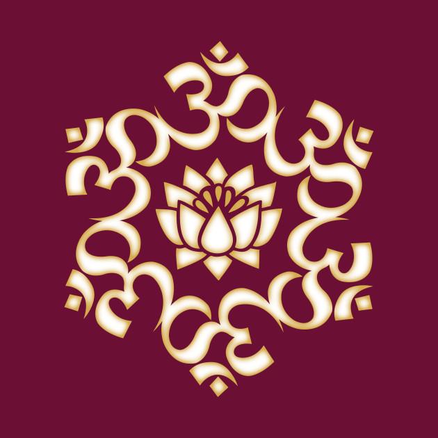 OM Mandala, Lotus Flower Yoga Buddhism Spirituality