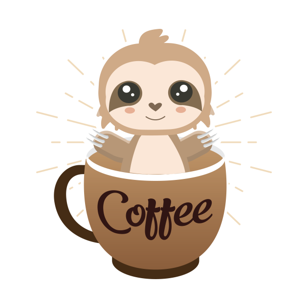 Sloth coffee design
