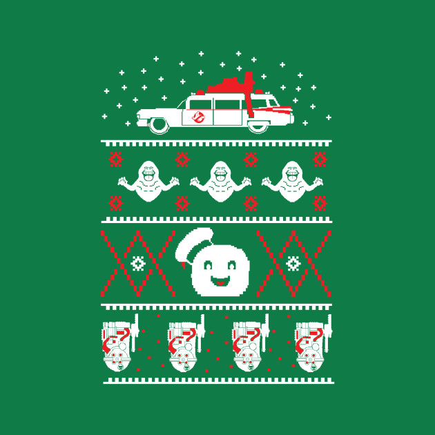 Ghostbusters Ugly Christmas Sweater