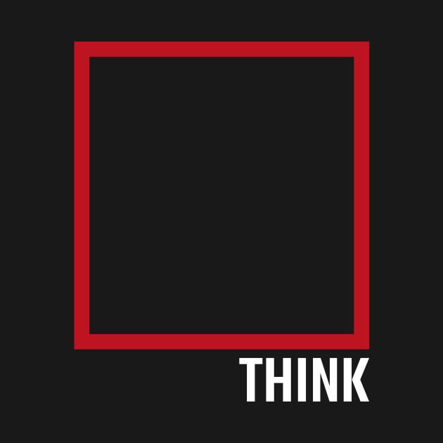 Think Outside The Box Creative Office Staff Gift Shirt for Philosophers Artists Teachers Coaches Therapists and Book Enthusiasts
