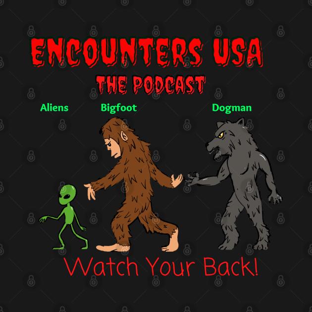 Aliens, Bigfoot and Dogman the Encounters USA Logo