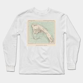 cf7704cda0 Vintage Map of Provincetown MA (1892) Long Sleeve T-Shirt