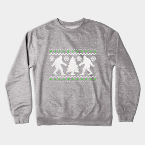 Funny Bigfoot Ugly Christmas Holiday Sweater - Bigfoot Sweater - T ...