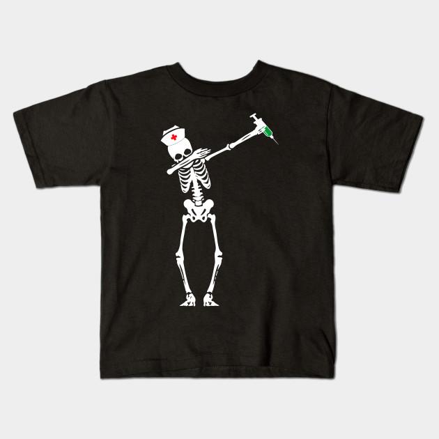 ba92d6882b63d Funny Dabbing Skeleton Skull Nurse Halloween Costume - Dabbing ...
