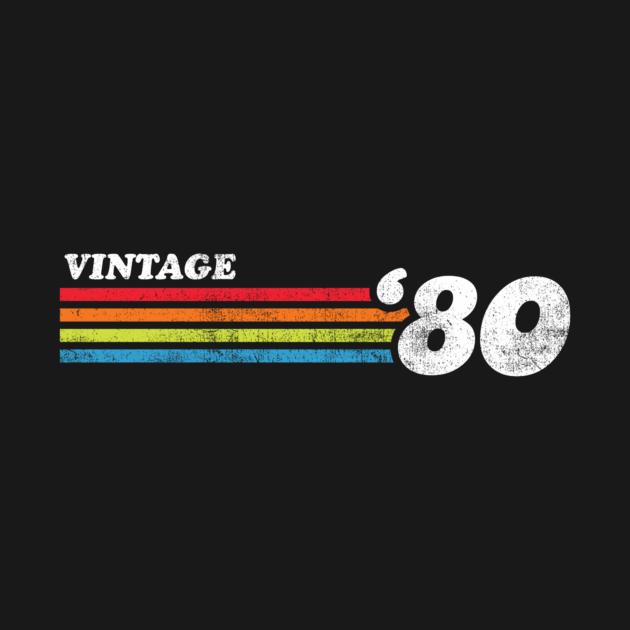 Born in 1980 Vintage 1980 Chest Stripe 40Th BirthdayGift Tee Long Sleeve Hoodie Sweatshirt