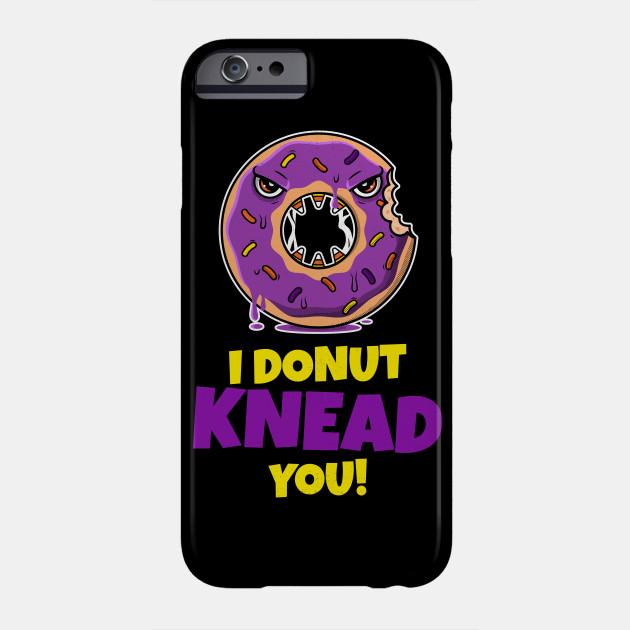 Halloween: I Donut knead you! Creepy angry Doughnut Phone Case
