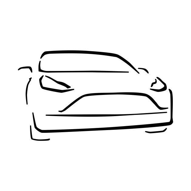 Electric Car Abstract Drawing