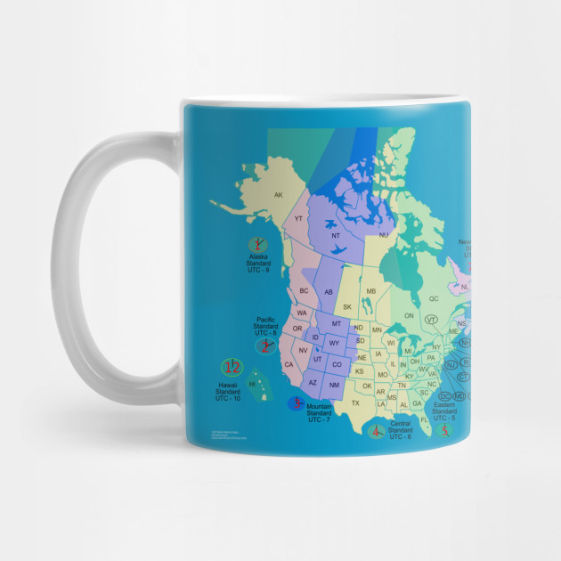 LIMITED EDITION Exclusive USA Canada Time Zone Map Usa Canada - Map usa canada