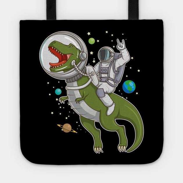 Astronaut Riding T-Rex Dinosaur Astro T-Rex in Outer Space Gift