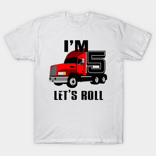 Kids Monster Truck Birthday 5th T Shirt Boy 5 Year Old