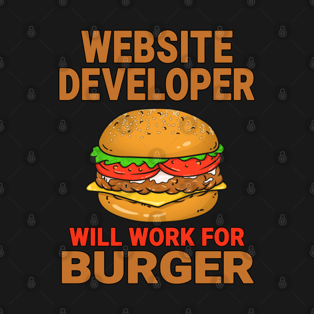 Web Developer Funny Burger Lover Design Quote