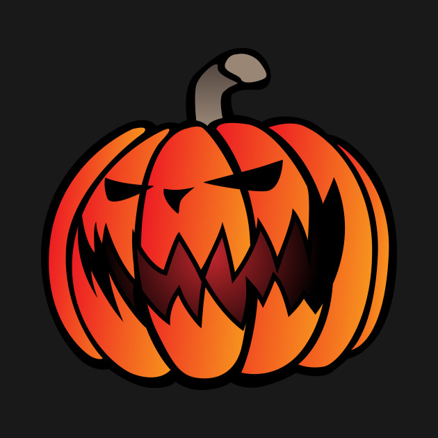 Halloween Pumpkin Cartoon Images.Halloween Scary Pumpkin Cartoon Illustration