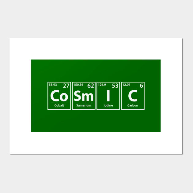 Cosmic (Co-Sm-I-C) Periodic Elements Spelling