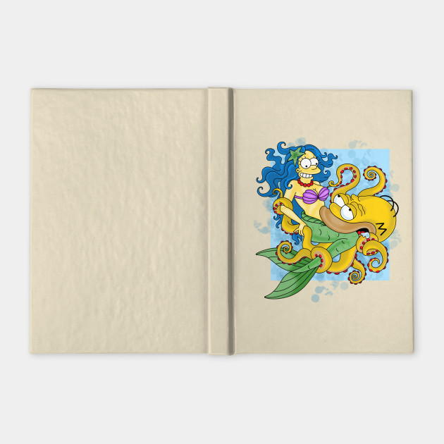 Marge the Mermaid and Octopus Homer