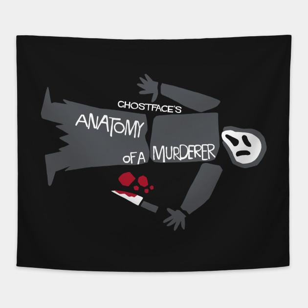 Anatomy of Ghostface - Scream - Tapestry | TeePublic