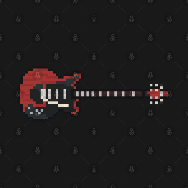 Pixel Red Special Guitar