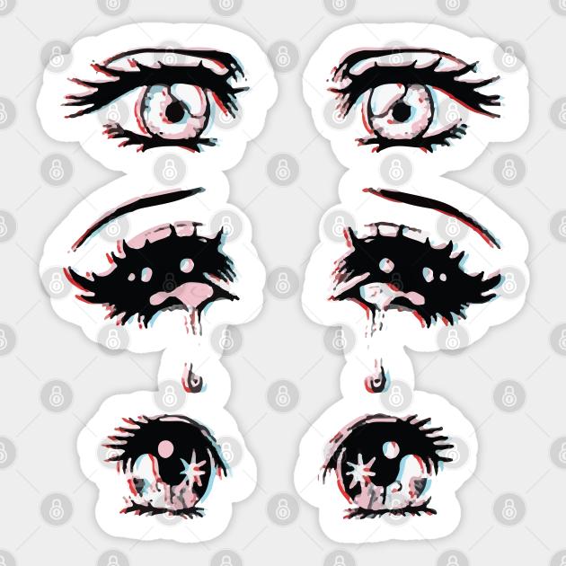Aesthetic Anime Eyes Anime And Manga Pegatina Teepublic Mx