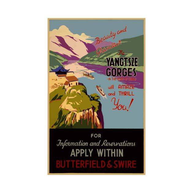 Yangtsze Gorges travel poster