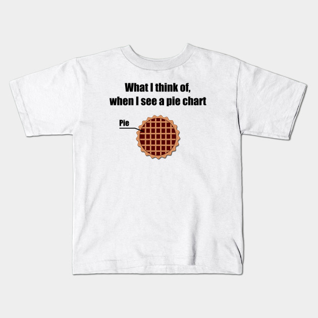 Pie Chart Pie Kids T Shirt Teepublic