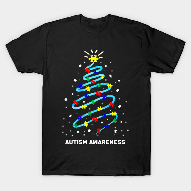 Christmas Autism Awareness Christmas tree T-Shirt
