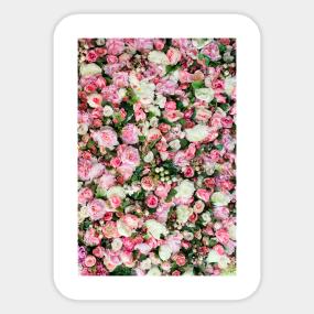 Pink flowers stickers teepublic pink flowers sticker mightylinksfo