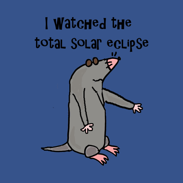 Funny Blind Mole Watched Solar Eclipse Cartoon