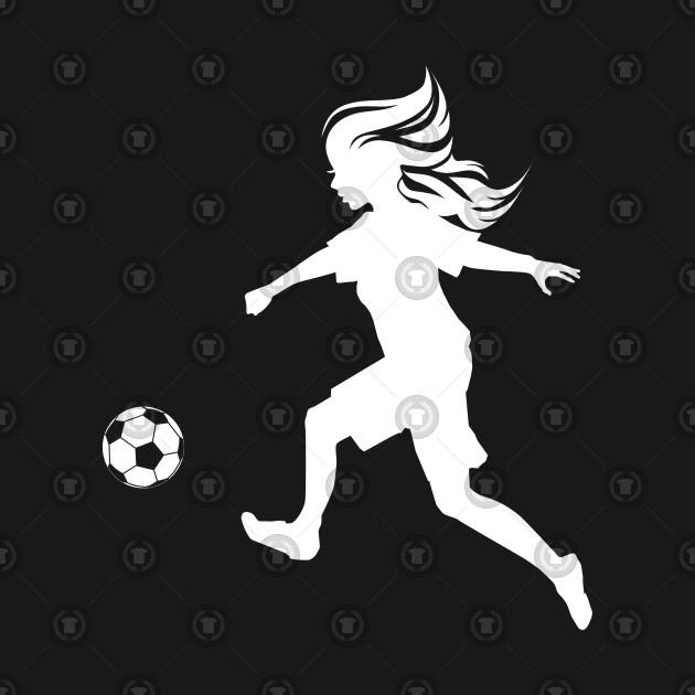 Footballer Woman Soccer Clipart