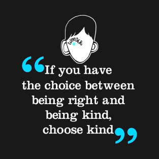 The Choice Between Being Right and Being Kind, Choose Kind t-shirts
