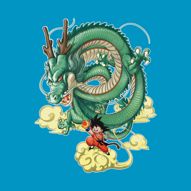 Son Goku and dragon Shenron