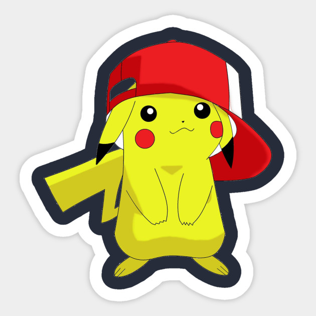 Pikachu With Ash Hat - Ace69 - Sticker  81fc358b0