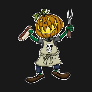 Pumpkin Head Grilling