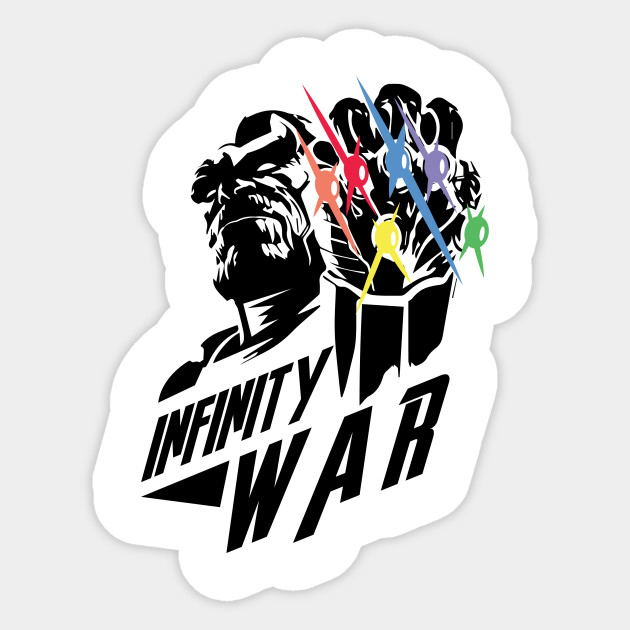 Infinity war sticker