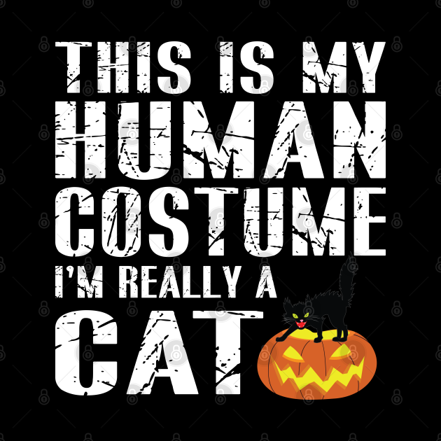 This is my HUMAN COSTUME I'm Really a CAT Halloween