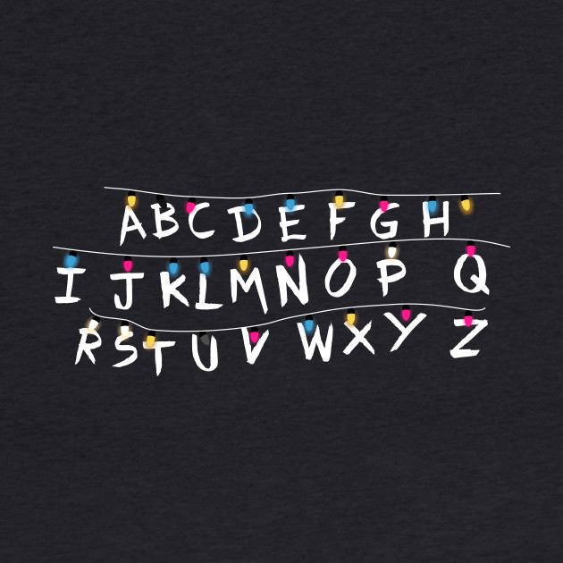 Stranger things alphabet