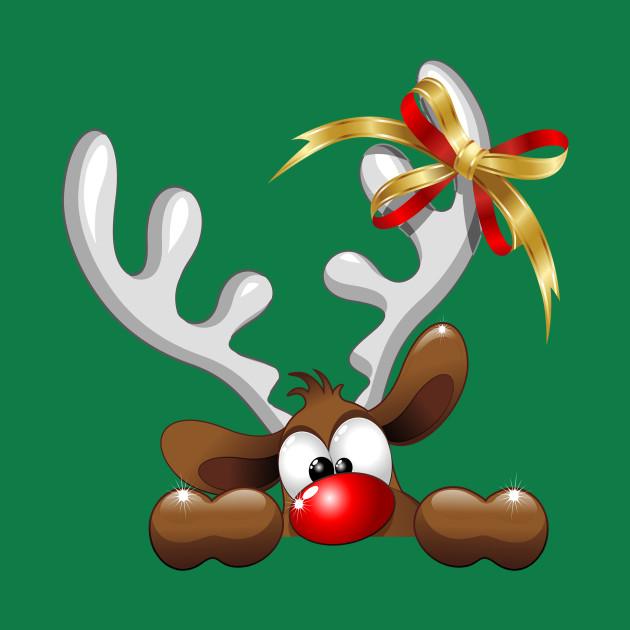 funny christmas reindeer cartoon christmas reindeer t shirt