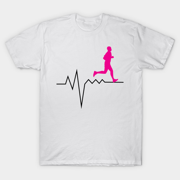Heartbeat Pulse Funny Running Runner Gifts T Shirt