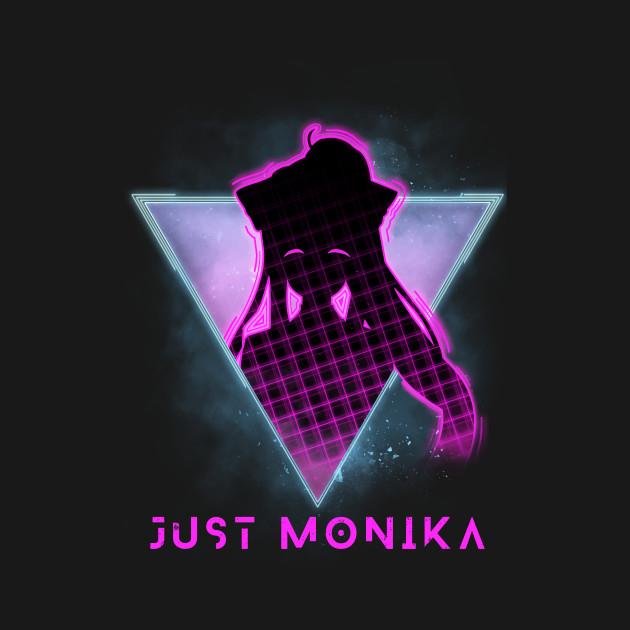 Just Monika Doki Doki Literature Club Futuristic 80s