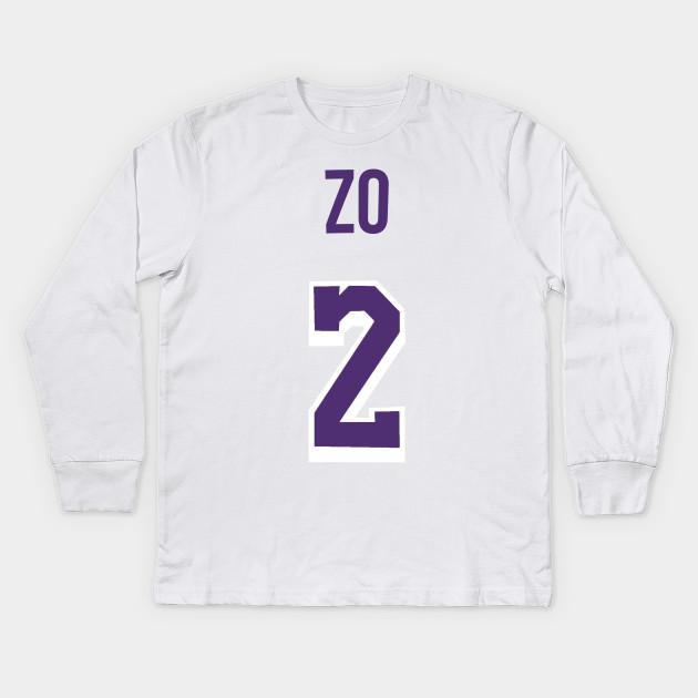 online store 5bd96 1efb5 Lonzo Ball 'ZO' Nickname Jersey - Los Angeles Lakers