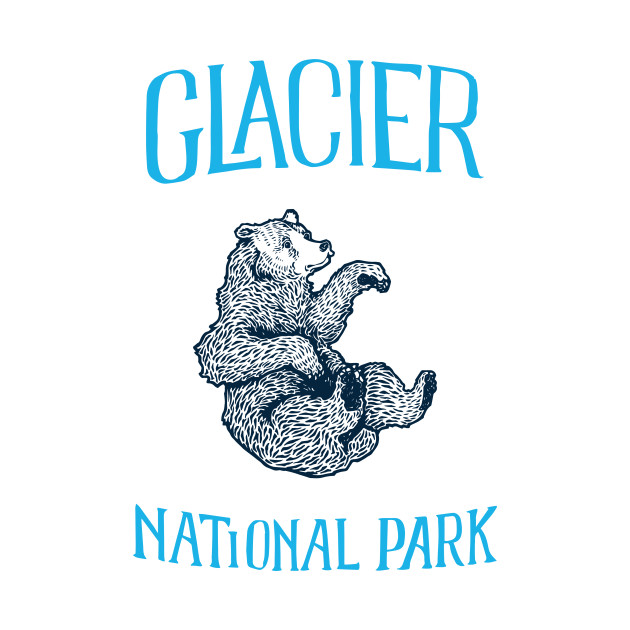 Glacier National Park: Falling Grizzly Bear