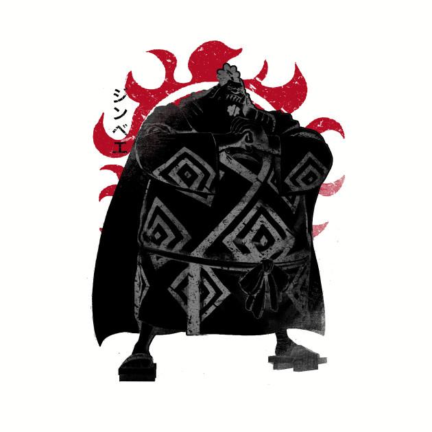 Crimson Jinbei - One Piece - T-Shirt  a42ad3b2c390