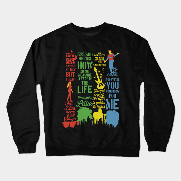 d5749f3e Rent Best Quotes - Rent Musical - Crewneck Sweatshirt | TeePublic