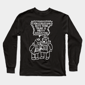 03e7d0e0 Disgusted Russian Bots (Ghost Version) Long Sleeve T-Shirt