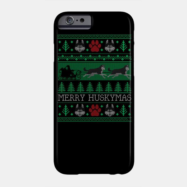 Christmas Siberian Husky Dog Funny Husky Ugly Christmas Sweater Phone Case