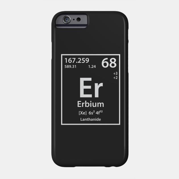 Erbium Element Erbium Phone Case Teepublic