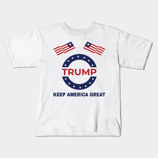 YuHoodieys Trump 2020 USA Keep America Great Crew Neck Short Sleeve Tee for Toddler Kids